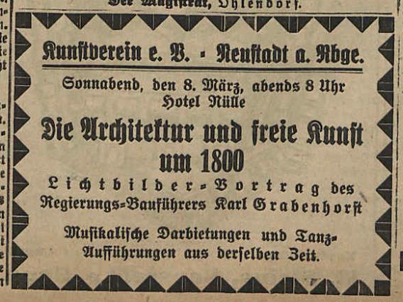 Grabenhorst - Architektur und freie Kunst um 1800